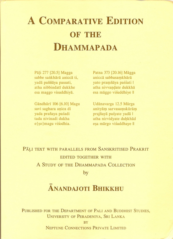 A Comparative Edition of the Dhammapada