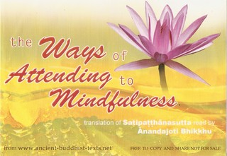 The Ways of Attending to Mindfulness